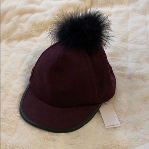Purple Pom Pom hat OS BCBG generation